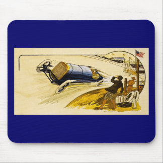 Vintage American Racing Advertisement Mousepad