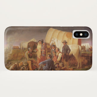 Vintage American West, Advice on Prairie by Ranney iPhone X Case