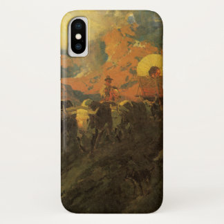 Vintage American West, Overland Trail by Johnson iPhone X Case