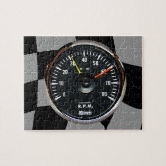 Vintage Analog Auto Tachometer Racing Jigsaw Puzzle