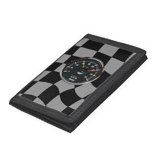 Vintage Analog Auto Tachometer Racing Wallet