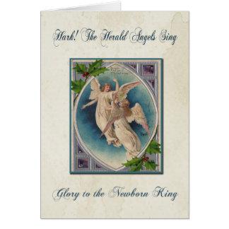 Vintage Angels Christmas Greeting Card