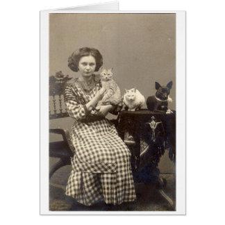 Vintage Animal Lover, Card