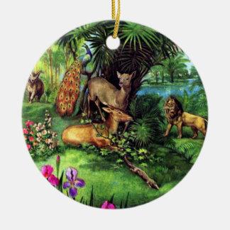 Vintage Animals Christmas Ornament