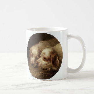 Vintage Animals Pet Dogs, Cute Spaniel Puppies Mug