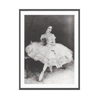 VINTAGE ANNA PAVLOV BALLERINA GISELLE BALLET PRINT