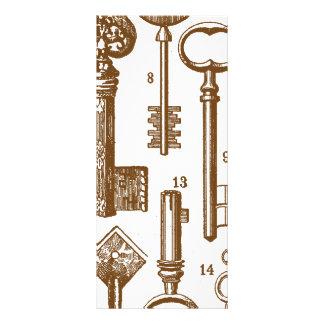 Vintage Antique Old Fashioned Key Set Rack Card