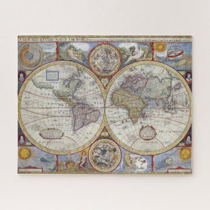 Historical world map jigsaw puzzles zazzle vintage antique old world map by john speed 1627 jigsaw puzzle gumiabroncs Image collections