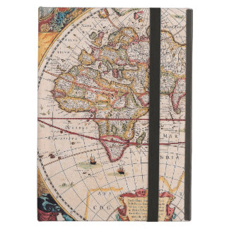 Vintage Antique Old World Map Design Faded Print iPad Air Cover