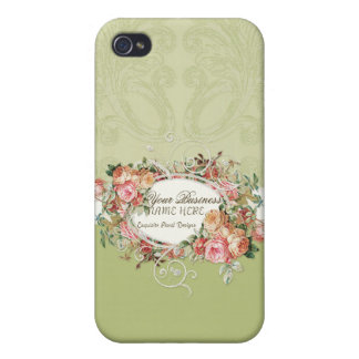 Vintage Antique Roses Floral Bouquet Modern Swirls Covers For iPhone 4