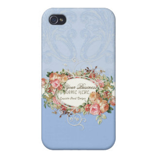 Vintage Antique Roses Floral Bouquet Modern Swirls iPhone 4/4S Covers