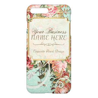 Vintage Antique Roses Floral Bouquet Modern Swirls iPhone 7 Plus Case