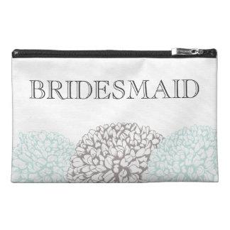 Vintage Aqua Zinnia Bridemaid's Make Up Bag Travel Accessory Bag