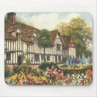 Vintage Architecture Formal Garden English Cottage Mouse Pad