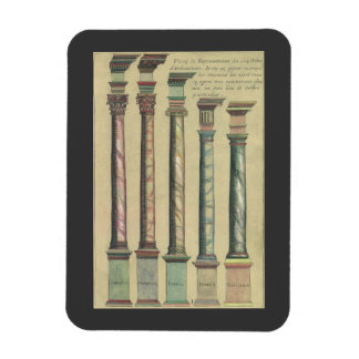 Vintage Architecture, the 5 Architectural Orders Rectangular Photo Magnet