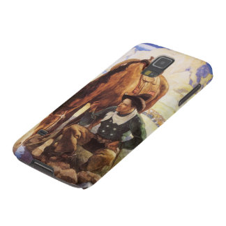Vintage Art, Cowboy Watering His Horse by NC Wyeth Galaxy S5 Case