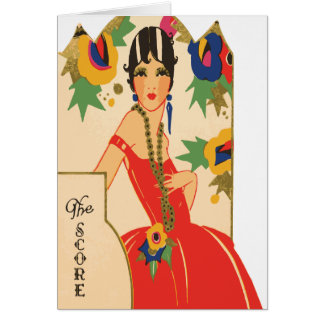 Vintage Art Deco Bridge Tally Card