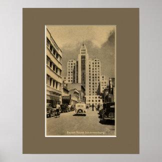 Vintage art deco building downtown Johannesburg Print
