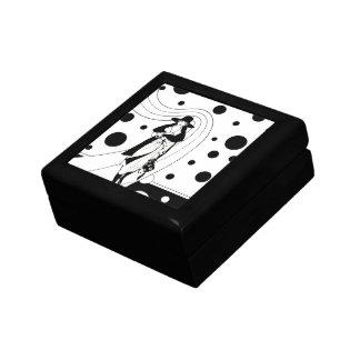 Vintage Art Deco Fashion Diva Woman Polka Dots Gift Box
