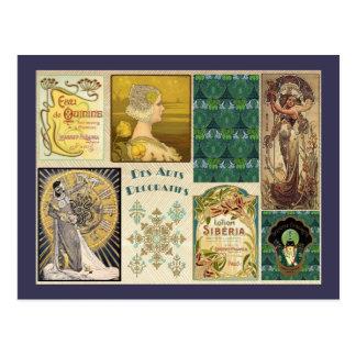 Vintage Art Deco Ladies Postcard