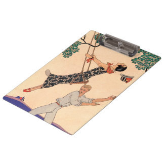 Vintage Art Deco Love, The Swing by George Barbier Clipboards
