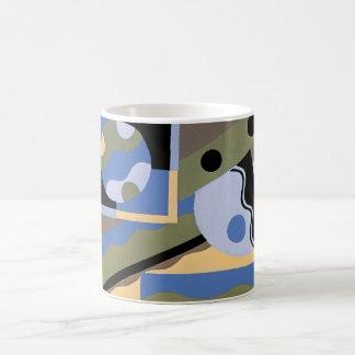 Vintage Art Deco Pochoir Jazz Cubism Pattern Coffee Mug
