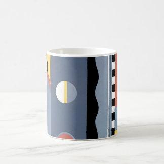Vintage Art Deco Pochoir Jazz Geometric Patterns Coffee Mug