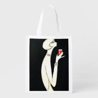 Vintage Art Deco ~ Villemot for Campari 1977 Reusable Grocery Bag