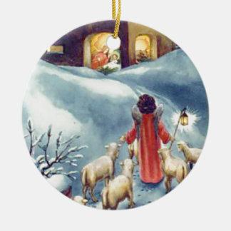 Vintage Art Nativity Christmas Ornament