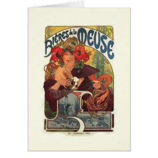 Vintage Art Nouveau Alphonse Mucha Card