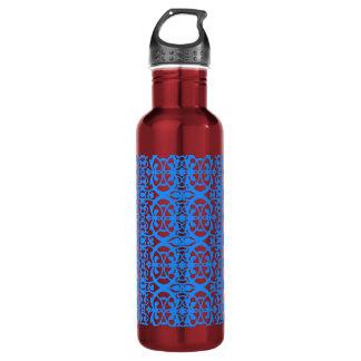 Vintage art nouveau in lavender blue 710 ml water bottle