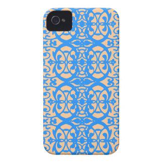 Vintage art nouveau in lavender blue iPhone 4 cover