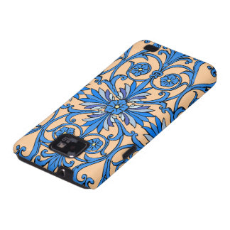 Vintage art nouveau in shades of blue galaxy s2 covers