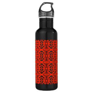Vintage art nouveau in tangerine tango 710 ml water bottle