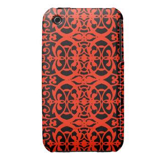 Vintage art nouveau in tangerine tango Case-Mate iPhone 3 case