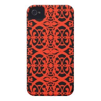 Vintage art nouveau in tangerine tango iPhone 4 case