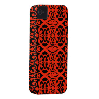 Vintage art nouveau in tangerine tango iPhone 4 cover