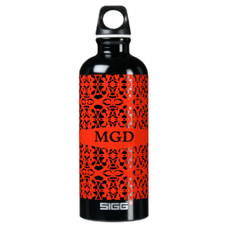 Vintage art nouveau in tangerine tango monogram SIGG traveller 0.6L water bottle