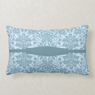 Vintage art nouveau turquoise floral cushion