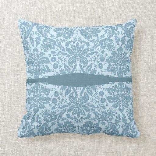 Vintage art nouveau turquoise floral pillows