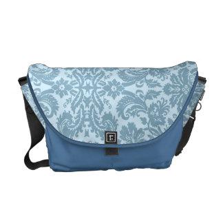 Vintage art nouveau turquoise floral messenger bag