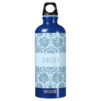 Vintage art nouveau turquoise floral monogram SIGG traveller 0.6L water bottle