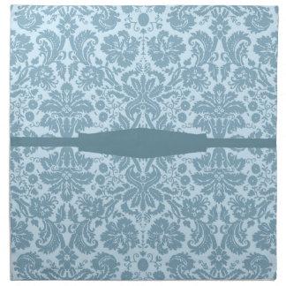 Vintage art nouveau turquoise floral cloth napkin