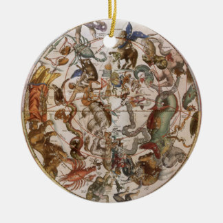 Vintage Astronomy, Constellations of Southern Sky Christmas Ornament