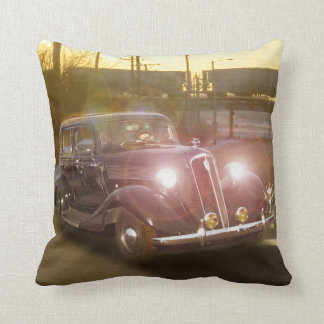 Vintage Auto and Train American MoJo Pillows Cushions