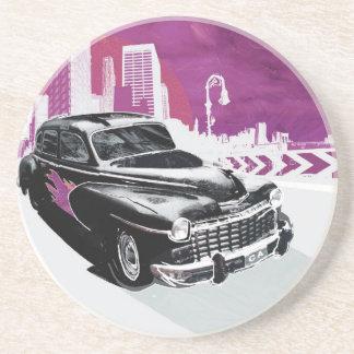 Vintage Auto Beverage Coasters