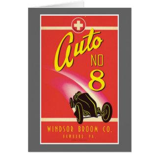Vintage Auto Car Product Label Art Card