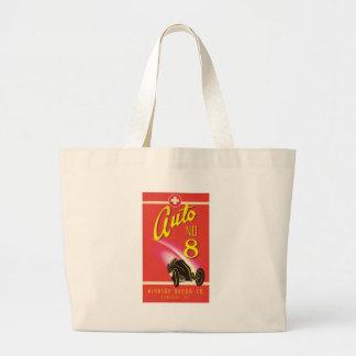 Vintage Auto Car Product Label Art Jumbo Tote Bag