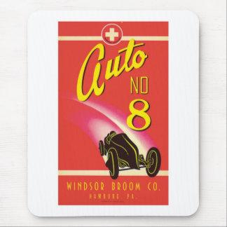 Vintage Auto Car Product Label Art Mouse Pad