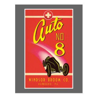 Vintage Auto Car Product Label Art Post Card